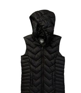 Sugarfly puffer vest with hood